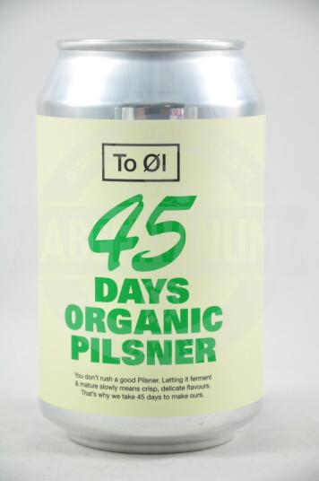 Birra To Øl 45 Days Organic Pilsner lattina 33cl