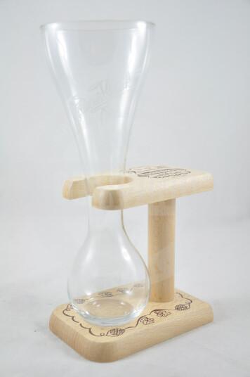 Bicchiere Birra Kwak con supporto in legno 33cl