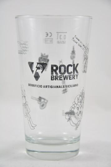 Bicchiere Birra Rock brewery