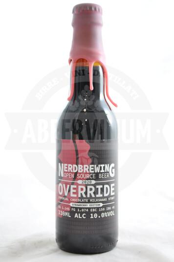 Birra Nerdbrewing Override Imperial Chocolate Milkshake Stout - Strawberry Edition 33cl