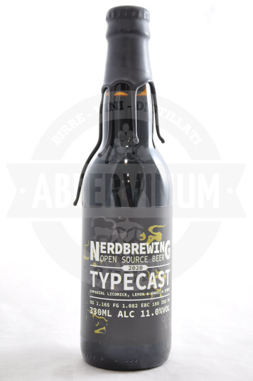 Birra Nerdbrewing Typecast Imperial Licorice, Lemon & Vanilla Stout 33cl