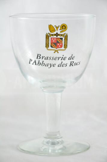 Bicchiere Birra Brasserie de l'Abbaye des Rocs 25cl