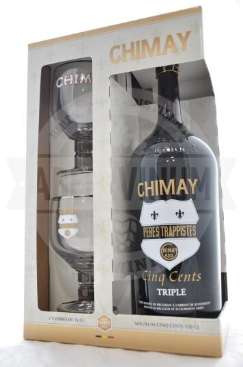 Birra Chimay Triple Cinq Cents Magnum 1,5L + 2 Bicchieri