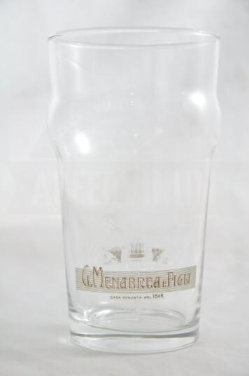 Bicchiere birra Menabrea pinta