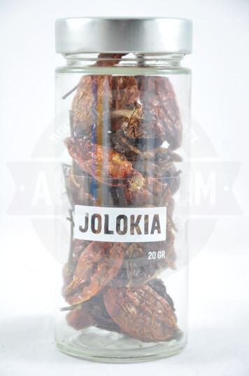 Peperoncini Interi Secchi Jolokia 20g - Sauce Piquante