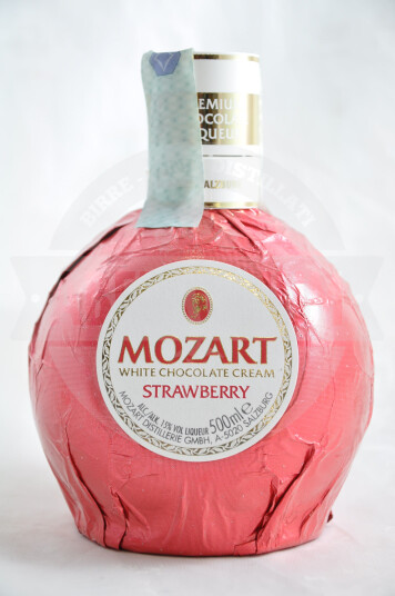 Liquore White Chocolate Cream Strawberry 50cl - Mozart Distillery