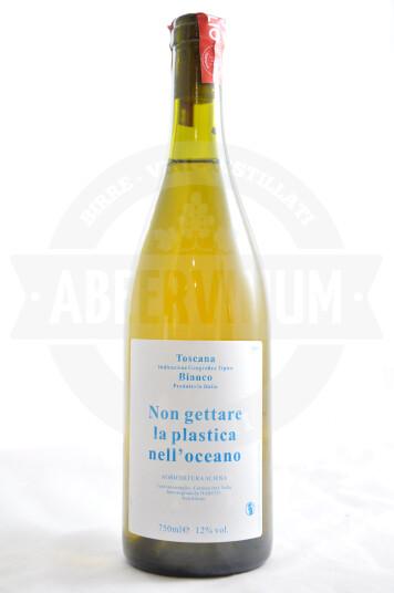 """Vino Bianco Toscana IGT 2019 """"Non Gettare la Plastica nell'Oceano"""" - Caravanserraglio"""