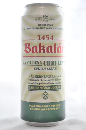 Birra Bakalar Chmeleny Pale Lager lattina 50cl