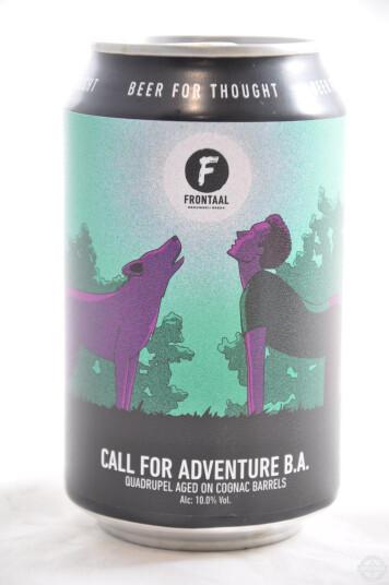 Birra Frontaal Call For Adventure Barrel Aged Lattina 33cl