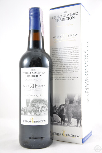 Vino Liquoroso Sherry Pedro Ximénez  VOS 20 years - Bodegas Tradición