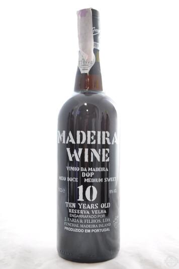 Vino Portoghese Madeira Medium Sweet DOP 10 Years Old Reserva Velha - J. Faria & Filhos