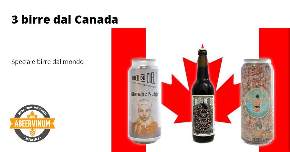 Dal mondo: 3 birre dal Canada
