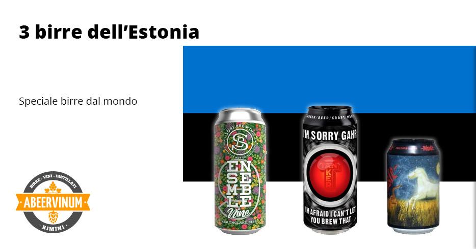 Dal mondo: 3 birre dall' Estonia